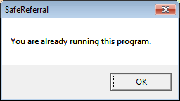 youre already running this program